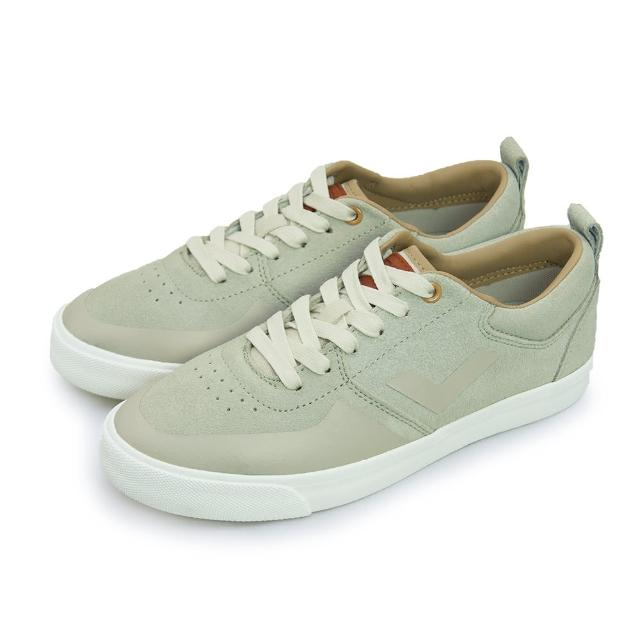 【好物推薦】MOMO購物網【PONY】女 經典復古滑板鞋 SUBWAY(灰卡其 61W1SU02LG)價錢富邦mo