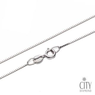 【City Diamond引雅】16吋義大利14K金盒子鍊-白