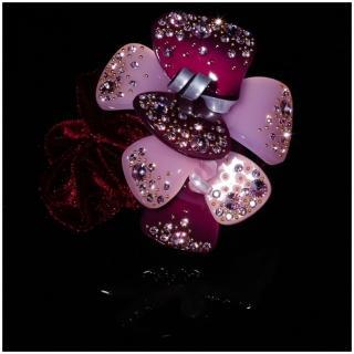 【NDM南大門】韓系奢華水鑽髮束水晶髮飾絨布髮束 大號(葡萄紫906068)