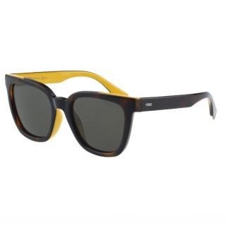 【FENDI】- 時尚太陽眼鏡(琥珀色)