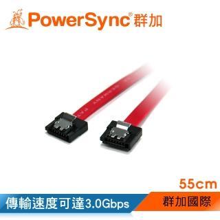 【群加 PowerSync】群加 包爾星克 SATA2 傳輸線 3.0 Gbps55㎝(SATA2-55R)