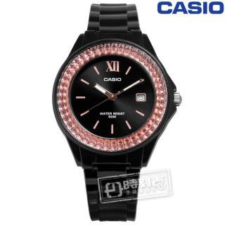 【CASIO 卡西歐】羅馬耀眼時尚日期橡膠腕錶 橘x黑 39mm(LX-500H-1)