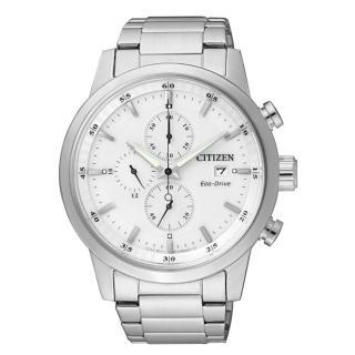 【CITIZEN】簡約質感光動能時尚腕錶(白面/CA0610-52A)