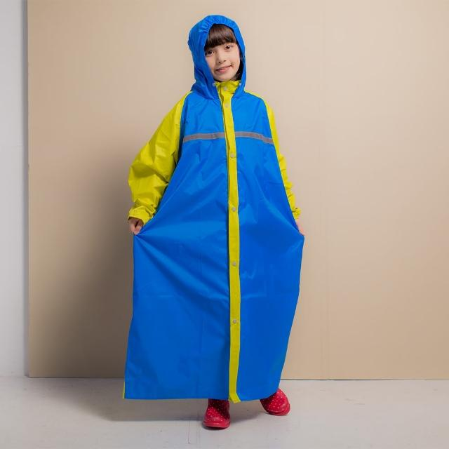 【BrightDay君邁雨衣】藏富邦媒體科技股份有限公司衫罩背背兒童背包前開連身式風雨衣(機車雨衣、戶外雨衣)