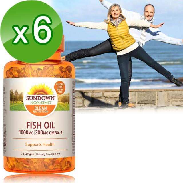 【美國Sumomo旅遊ndown日落恩賜】高單位精純魚油72粒(6瓶組)