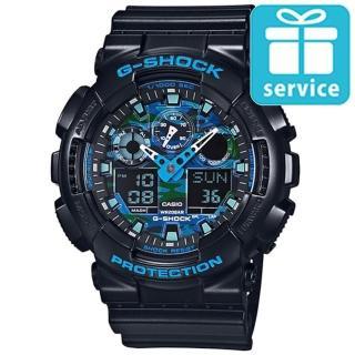 【CASIO】G-SHOCK冷冽迷彩酷炫風格腕錶(GA-100CB-1A)
