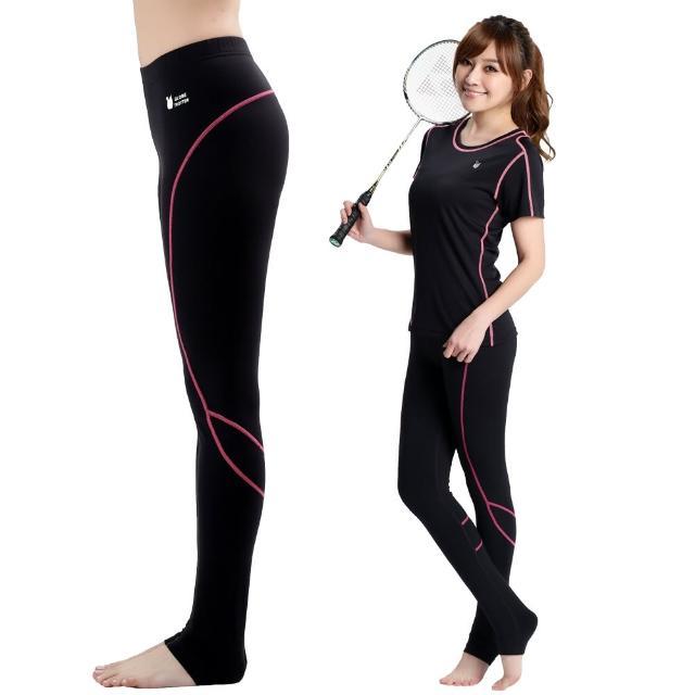 【遊遍天下】MIT台灣製3D彈力塑身吸排機能壓力褲P11富邦momo百貨1黑色(M-L)