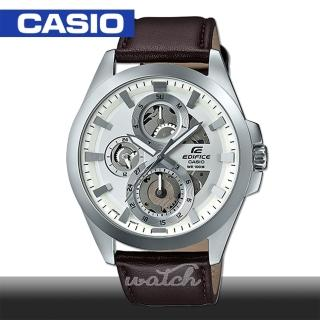 【CASIO 卡西歐 EDIFICE 系列】日系時尚_三眼多層次錶盤賽車錶(ESK-300L-7A)