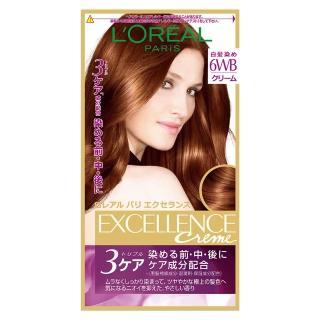 【LOREAL Paris 巴黎萊雅】優媚霜三重護髮雙管染髮霜(6WB 紅銅棕)