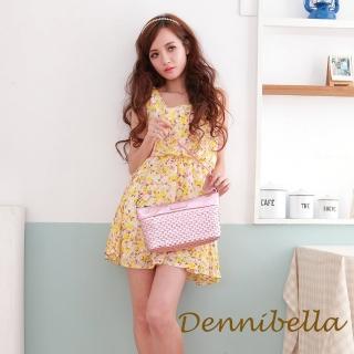 【Dennibella 丹妮貝拉】牛皮斜背編織包-粉紅(4D170581690)