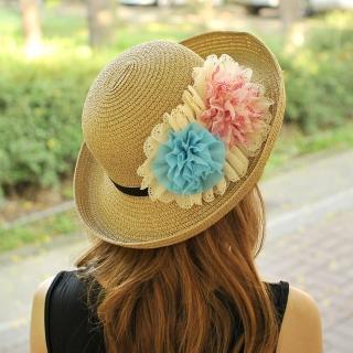 【Lady c.c.】絢彩漾花時髦遮陽帽(咖)