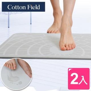 【棉花田】日本超人氣珪藻土吸水速乾浴踏墊-5款可選(二件組)