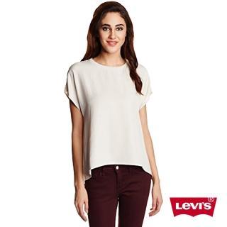 【Levis】女款米色素面短袖T恤
