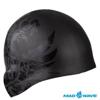 【俄羅斯MADWAVE】成人矽膠泳帽(BLACKRUSSIA)