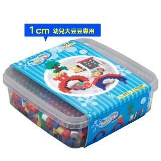 【Hama幼兒大豆豆】600顆大拼豆幼兒早教學習組合(旅行輕裝盒-大正方板)