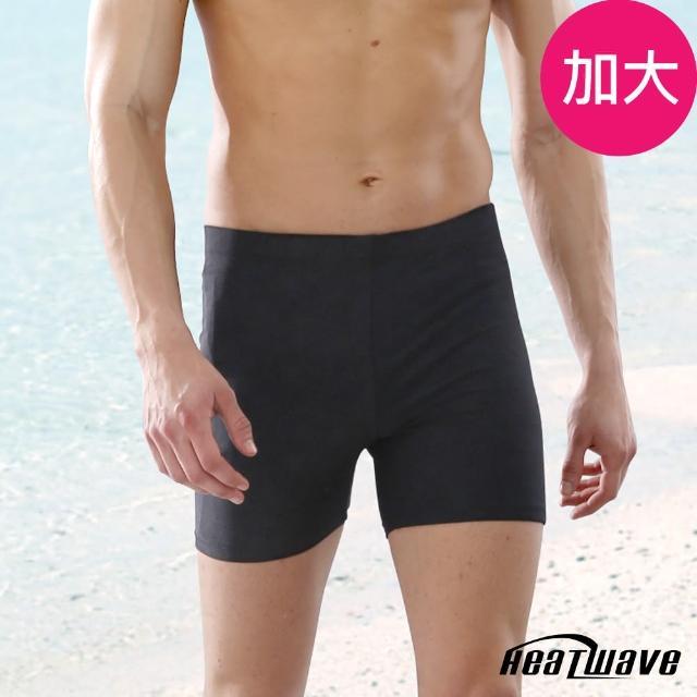 【勸敗】MOMO購物網【Heatwave 熱浪】加大男泳褲 五分褲-黑格調(273)哪裡買momo富邦購物網電話
