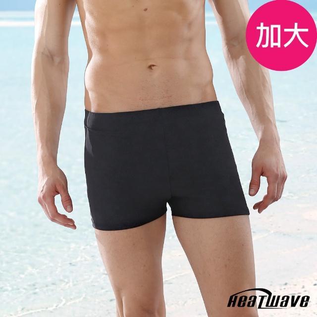 【真心勸敗】MOMO購物網【Heatwave 熱浪】加大男泳褲 二分平口褲-黑伯爵(272)好用嗎富邦momo旅遊