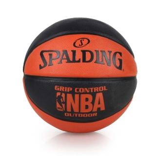 【SPALDING】NBA GRIP CONTROL OUTDOOR戶外籃球(黑橘)