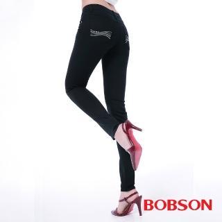 【BOBSON】女款膠原蛋白彩色小直筒褲(8118-07)
