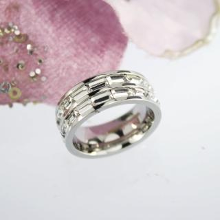 【xmono】白色T型滿鑽戒指