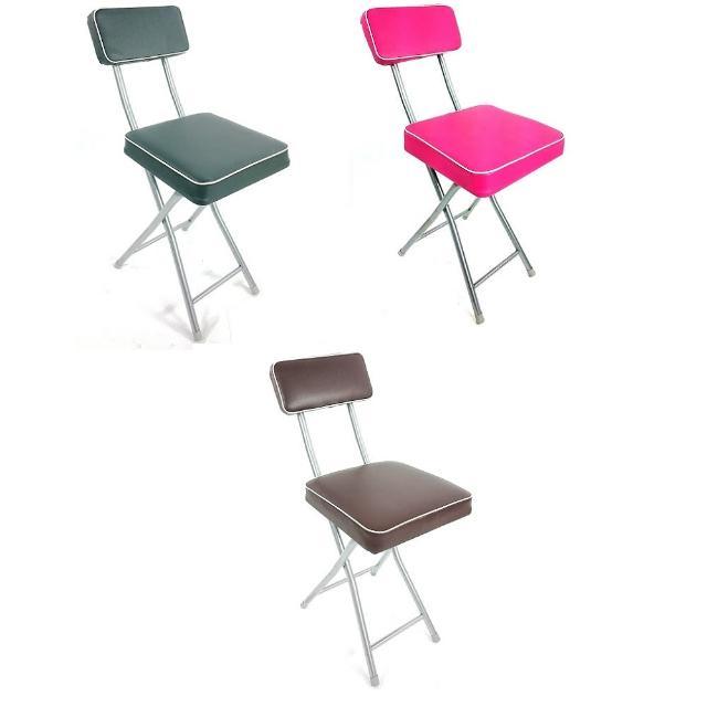 【網購】MOMO購物網【BROTHER 兄弟牌】丹寧方型厚墊有背折疊椅灰色及桃紅色-4入(兄弟牌折疊椅)去哪買momo行動購物