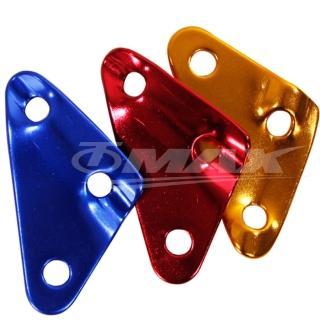 【omax】鋁合金-三角營繩調節片-12入(顏色隨機出貨)
