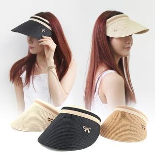 【LuCa戶外專家】韓國時尚-新潮髮箍式大帽沿遮陽草編帽(遮陽帽/海灘帽/鴨舌帽)