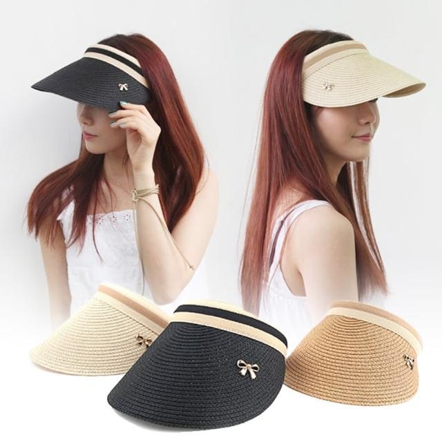 【LuCa戶外專家】韓國時尚-momo購物網台新潮髮箍式大帽沿遮陽草編帽(遮陽帽/海灘帽/鴨舌帽)