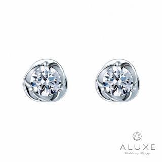 【A-LUXE 亞立詩】總重60分Rose玫瑰心美鑽耳環