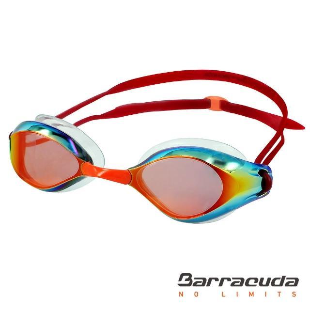 【美國巴洛酷達Barracudamomo購物網電話號碼】成人廣角抗UV防霧電鍍泳鏡(LIQUID WAVE#91410)
