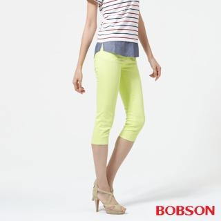 【BOBSON】女款低腰膠原蛋白彩色七分褲(223-58)