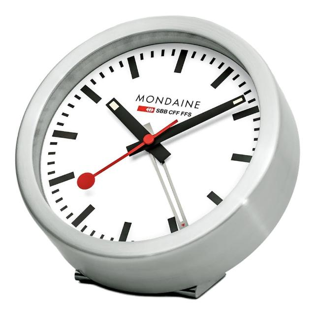 【MONDAINE瑞士國鐵】兩用nciaga鬧鐘(12.5cm)