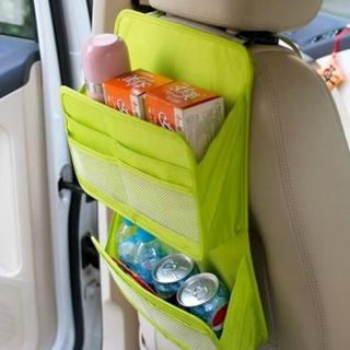 【DF 生活趣館】車用多功能收納雙層式掛袋