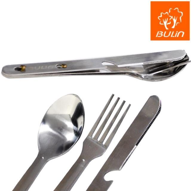 【部落客推薦】MOMO購物網【步林BULIN】四合一不銹鋼餐具 隨身刀叉湯匙組合/環保餐具組評價怎樣momo1台