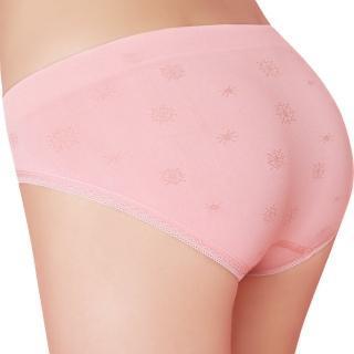 【思薇爾】彈戀愛系列M-XL提花低腰三角無縫內褲(公主粉)