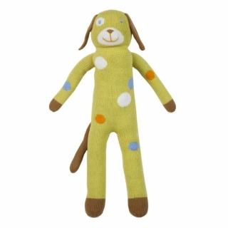 【美國 Blabla Kids】手做純棉針織娃娃18吋 - 點點檸檬綠小狗 Dog Lemonade(TM140117022)