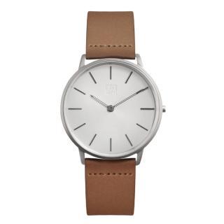 【ZOOM】THIN 極簡超薄腕錶(銀白 /42mm)