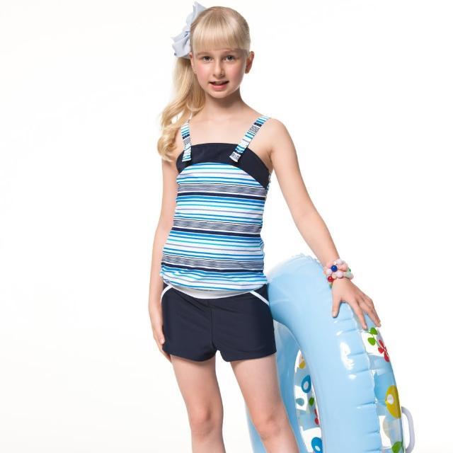 【網購】MOMO購物網【SAIN SOU】泡湯SPA少女二件式連身褲泳裝(附泳帽A92651)推薦momo台購物網