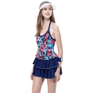 【SAIN SOU】泡湯戲水SPA大女連身裙泳裝(附泳帽A98641)