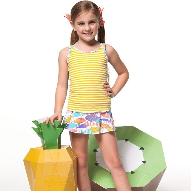 【好物分享】MOMO購物網【SARBIS】泡湯SPA戲水女童二件式泳裝(附泳帽B82607)去哪買富邦媒體