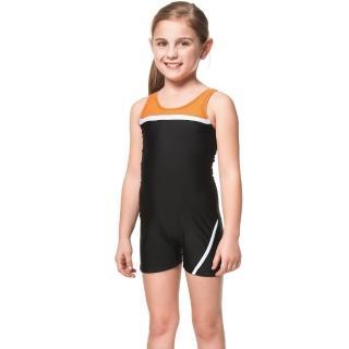 【SARBIS】泡湯SPA戲水女童連身四角泳裝(附泳帽B85261)