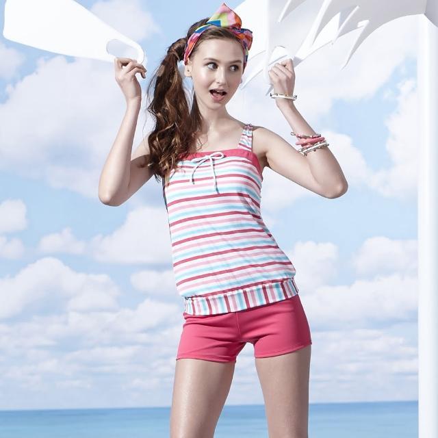 【好物分享】MOMO購物網【SARBIS】泡湯SPA大女二件式泳裝(附泳帽B92658-07)評價如何momo旅遊購物