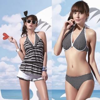 【SARBIS】大女比基尼四件式泳裝(附泳帽B94601)