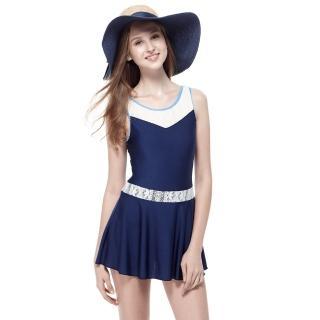 【SARBIS】泡湯SPA大女連身裙泳裝(附泳帽B98635)