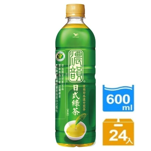【茶裏王】濃韻日式momoe購物綠茶600ml 24入/箱(健康食品調節血脂功能認證)