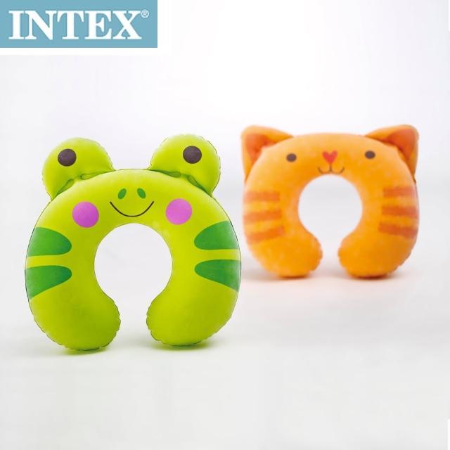 【真心勸敗】MOMO購物網【INTEX】充氣護頸枕-動物造型(隨機出貨)開箱momo網購