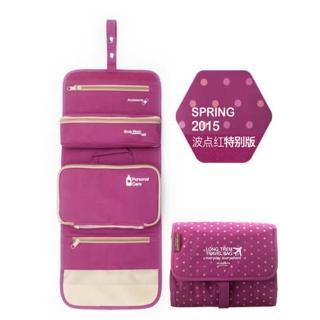 【M Square】長程旅行化妝包-點點紅