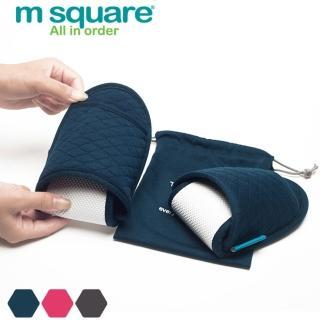 【M Square】旅行舒適棉開口拖鞋