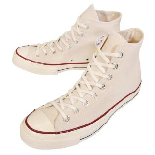 【CONVERSE】休閒鞋 帆布鞋 Chuck All Star 70 高筒基本款 卡其白 男鞋女鞋(144755C)