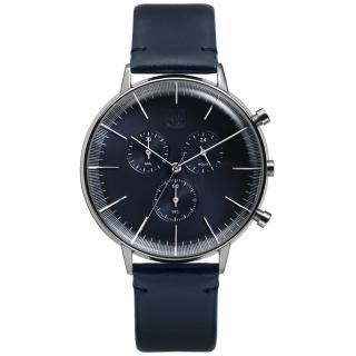 【ZOOM】REFINE 純粹經典計時腕錶(藍 /44mm)